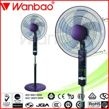 Hot selling ABS electric fan with LED light remote control stand fan