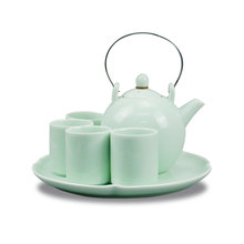 Porcelain Japanese ceramic tea sets with tea tray
