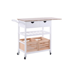 China factory sale wooden kitchen trolley cart with storage basket crate wine rack