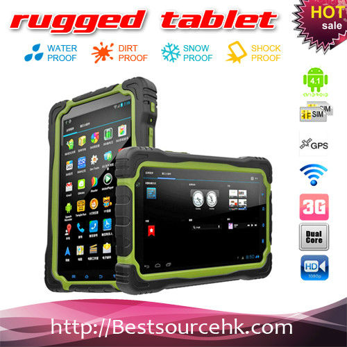 Android 4.2 quad core MTK6589 IP65 waterproof rugged tablet PC with phone call compass