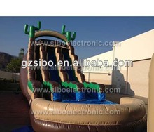 IW00 playground indoor inflatable bouncer inflatable water slides with pool