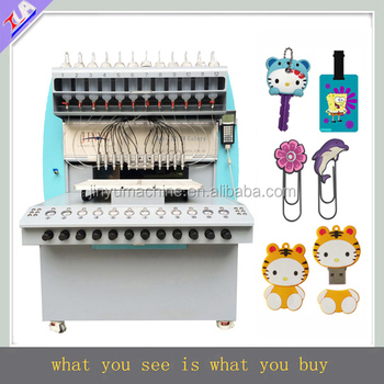 plastic logo filling machine pvc gift label maker machine with CE