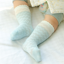 Baby comfortable soft socks mesh breathable cotton knee socks baby stocking