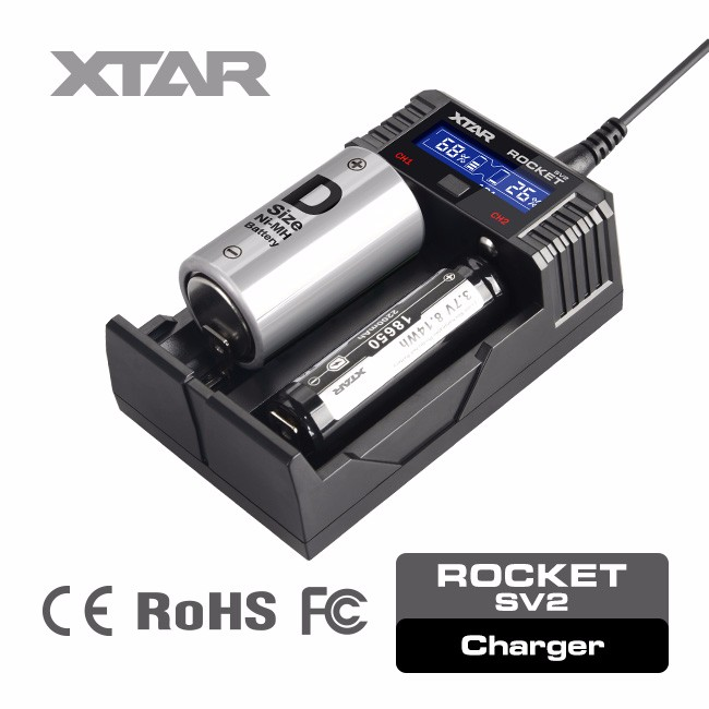 Rocket SV2 new 2A fast 18650 fast genius lithium battery charger