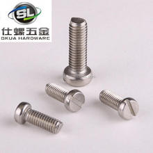 High Quality ISO1207 stainless steel slotted cheese head screws A4-70