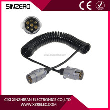 Hot selling PU Spring 7 pin Coiled Cables for Trailer Car