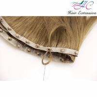 Golden Supplier Wholesale Price Human Hair Cheap Halo Hair Extensions