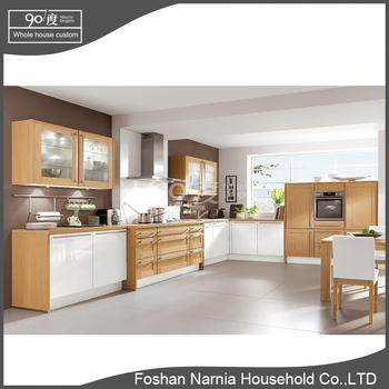 L shaped China factory cheap kitchen cabinet design