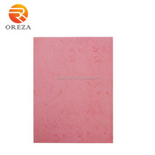 Colored embossed paper board cover