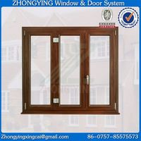 Upvc hollow glass design heat resistant windows