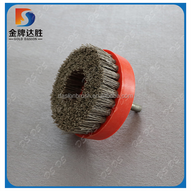 Manufacturer Nylon Crimped with Shaft Abrasive Cup Brush