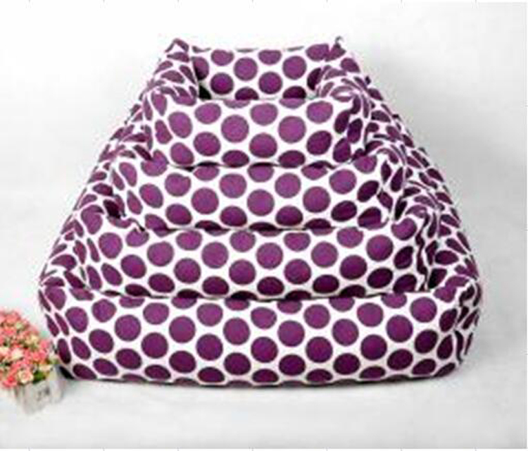 purple new fashion design waterproof canvas pet bed manufacturer