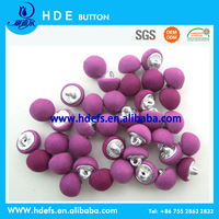 New fashion aluminium shank back fabric covered button
