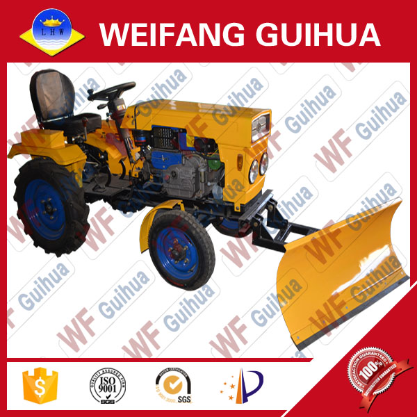 12 HP 2WD China agricultural classic type mini tractor with snow blades
