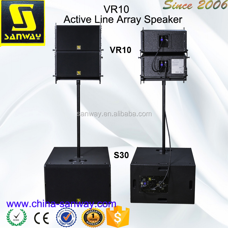 VR10 10 inch Speaker & Dual 15 inch Subwoofer Powered Line Array