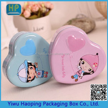 The full moon candy tin gift box baby was born male and female heart-shaped tin box