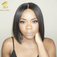 Brazilian Hair Silk Base Full Lace Wig, Silky Straight Glueless Silk Top Natural Hairline Wigs