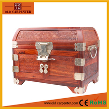 wholesale antique handmade Mirror custom wooden Jewelry box with mirror