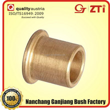 flanged brass shoulder bushing