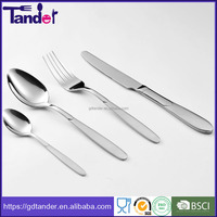 72pcs satin plated high quality stainless steel cutlery
