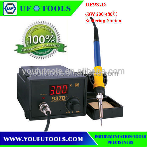 UF-937D soldering station ESD 45W Digital thermostat heat gun Soldering Iron 937D Rework station