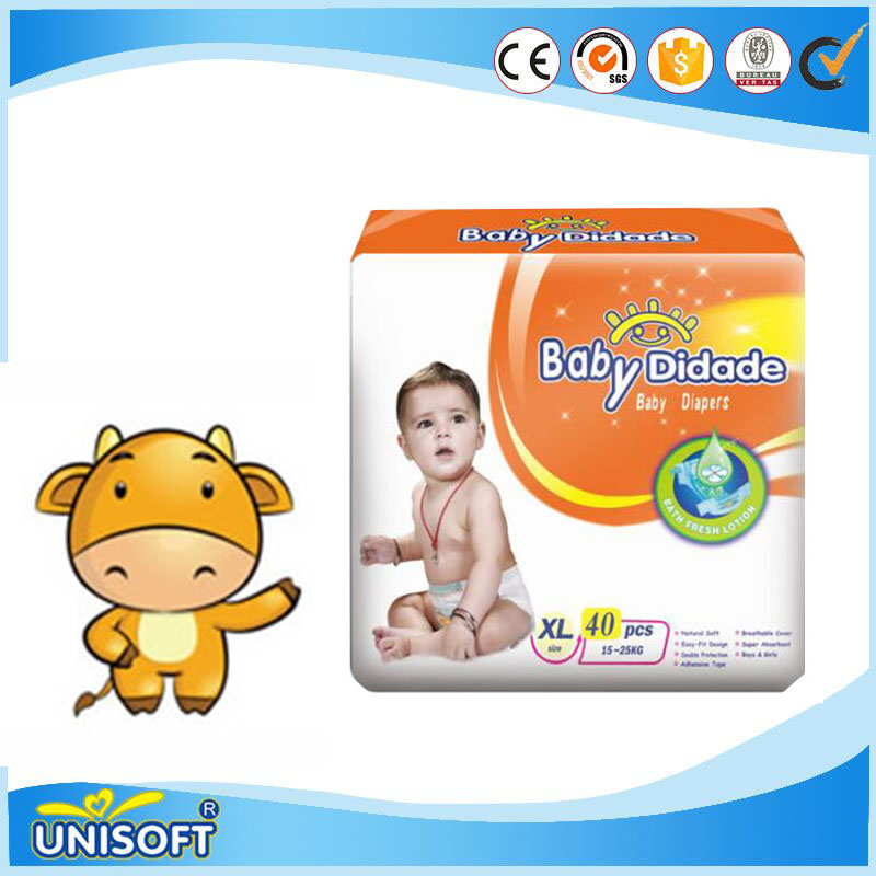 Quick absorbtion disposable sleepy baby diapers to Malaysia with magic tape