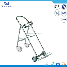 Hospital medical stainless steel oxygen bottle holder with wheels