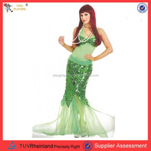 Sexy green mermaid fancy dress for women carnival costume PGWC-1241
