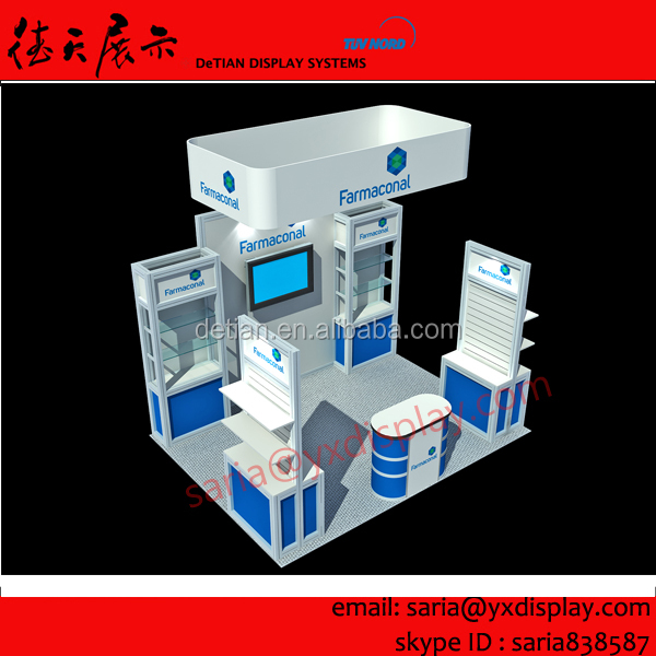 3x3 (10x10) High quality fair stand 10x20 trade show stand event display