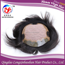 Qingdao Factory Supply Lace Front , Invisible Knot And Lace, Good Contour Men Hair Piece Toupee