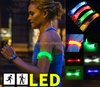 Special Led Cycling Night Running Glowing Bracelets Foot Strap Camping Flashing Warning Wristbands Armband Sports Accessories