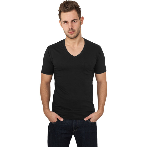 Plain Black Deep V Neck T Shirts For Men - Buy Deep V Neck T ...