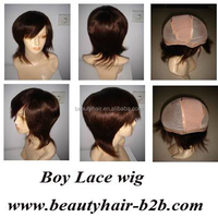 6inch brown 100% Brazilian human hair full lace wig for men