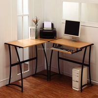 metal furniture pvc wooden top computer desk