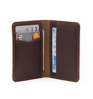 Slim Design For Front Pocket Carry Durable Crazy Horse RFID Leather Mens Wallet