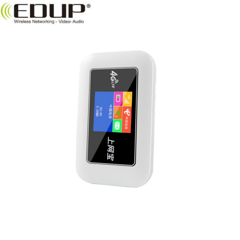 EDUP 4G Wireless Mobile Mifis colour screen mobile wifi router with sim card