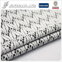 Jiufan textile black and white jacquard lace fabric tecido jacquard