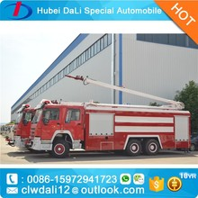 howo fire engine, HOWO Pump fire truck, foam fire truck dimension for sale