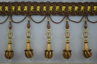 contemporary wooden beaded tassel fringe,decorative drapery trim