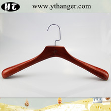 antique brown wooden hanger for heavy duty coat