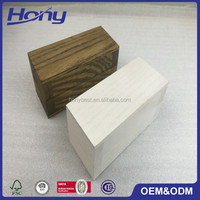Small Finished Wholesale Wooden Jewelry Ring Holder Box with Soft Liner