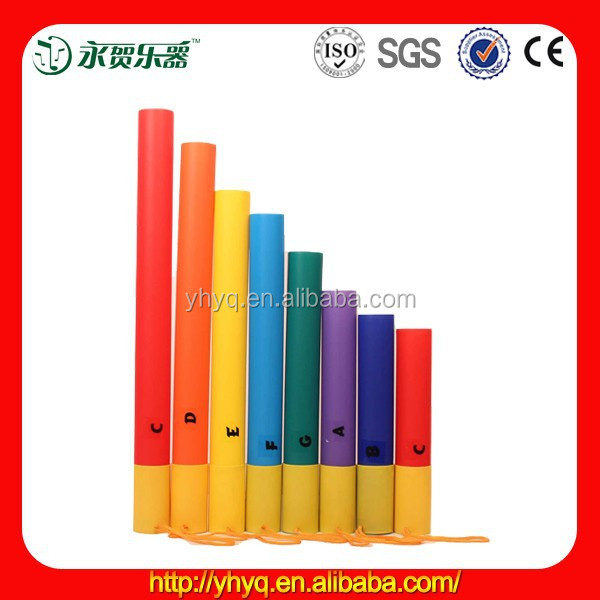 Musical plastic sound tube,colorful plastic musical tube