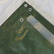 green silver Pe Coated Tarpaulin shteet / heavy duty tarps for truck cover cargo storage usage