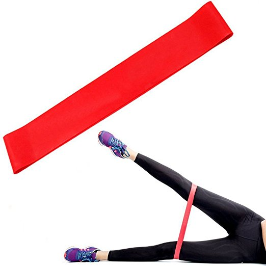 Hotselling Sports Fitness Exercise flat band Resistance Loop Bands with Custom Printed Logo