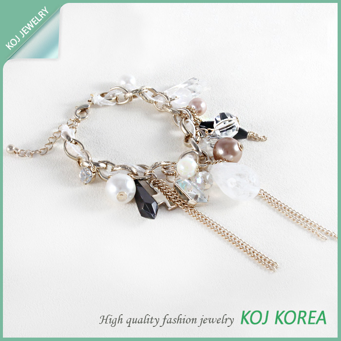 Charm bracelets gold color made in korea