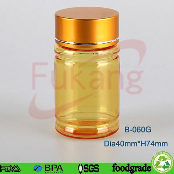 Custom logo plastic package bottle for tablet small 60ml for Small pill bottles