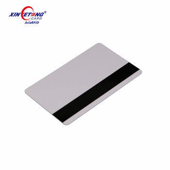 High Quality CR80 Size White Plastic Printable Inkjet Blank Thermal PVC Card with Magnetic Stripe