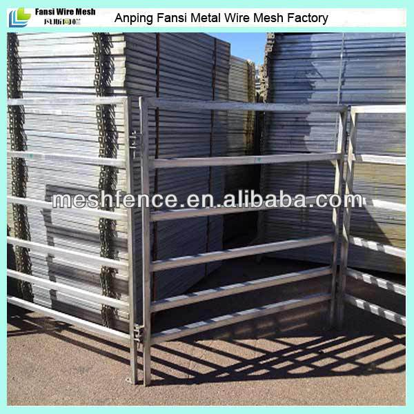 high quality hot galvanized steel tube cattle/cow/bull fencing panels(china direct supplier)