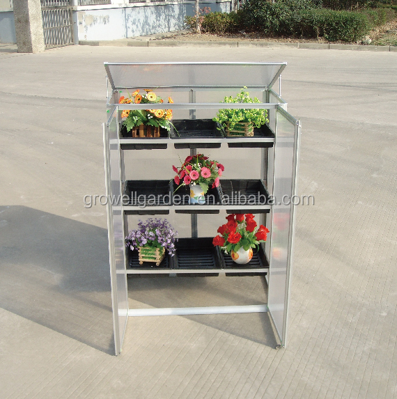Cold frame with Seed trays or Aluminium plate