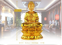 Golden color resin material buddha statue religious statues